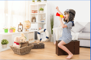 Present a play as a fun creative activity for kids.