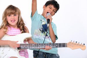 Kids play music