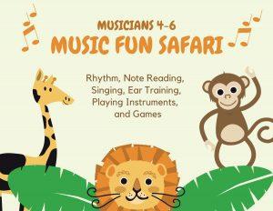 Music Fun Safari at Confident Voice Studio