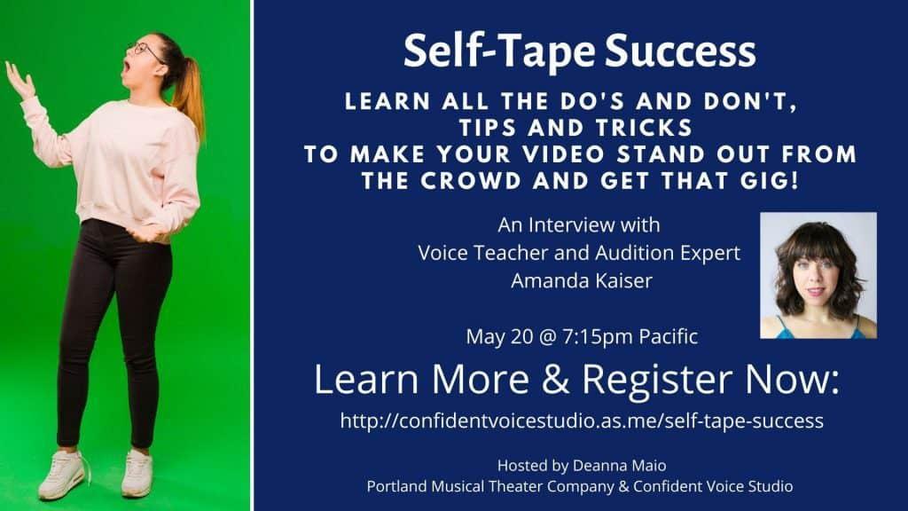 Self-Tape Success at Confident Voice Studio