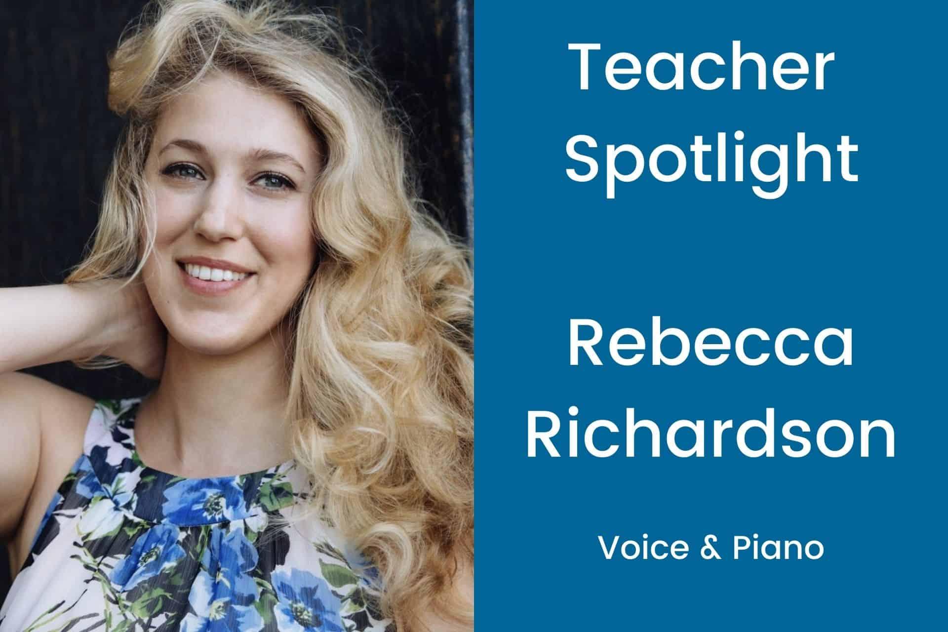 Teacher Spotlight Rebecca Richardson