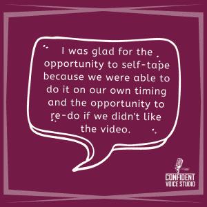 Self Tape Success