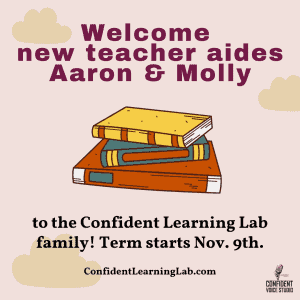 Confident Learning Lab Welcomes New Teacher Aides